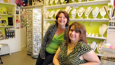 Jane Aldridge, left, and Sarah Horan, business partners at Aldridge Crafts and Champagne Moments at