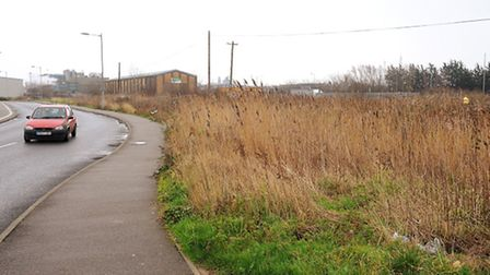 Empty land next to Pasta Foods and the Tesco Extra store in Great Yarmouth which was proposed for ne