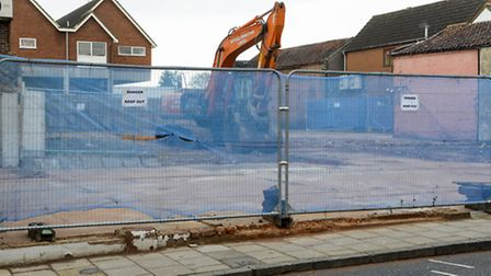 The former TSB Bank on Norwich Street in Dereham has been demolished. Picture: Matthew Usher.