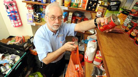 Alan Smith from the Salvation Army who is also a volunteer at the Great Yarmouth Foodbank.Picture: J
