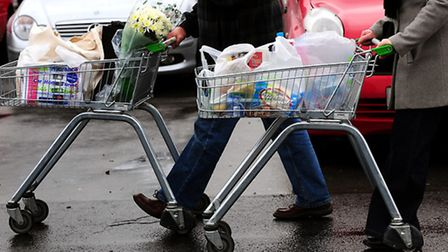 File photo dated 21/02/08 of a general view of people going supermarket shopping, as the supermarket