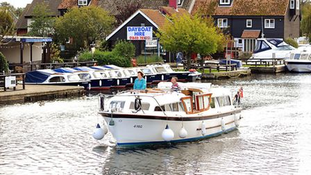 On the River Bure at Wroxham.Picture: James Bass