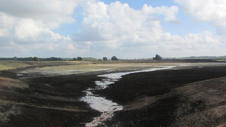 Work is progressing apace on King's Lynn Drainage Board's new flood storage area to the east of the