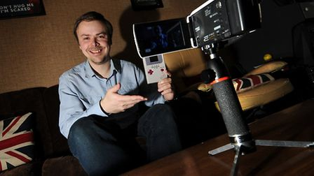 YouTube personality Stuart Ashen at his home in Norwich.Picture: ANTONY KELLY