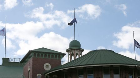 Flags fly at half-mast at the Sydney Cricket Ground following the death of Australian cricket player