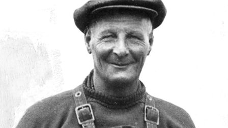 Lifeboat legend: Coxswain Henry Blogg received the first of his three Gold Medals for his gallant re
