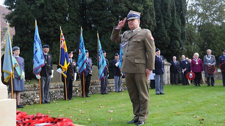 The people of Wretham and surrounding areas remember the fallen soldiers from around Europe that ser