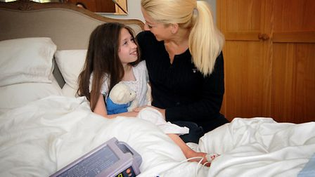 A day in the life of Rebekah Hughes, 9, who has Dravet Syndrome. Rebekah's mum Annabel fits her nig