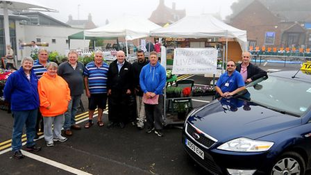 Stall holders and taxi drivers concerns over the proposal to move Cromer market. Left to right, Kim