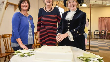 Lady Philippa Dannatt MBE The High Sheriff of Norfolk visits a mental health charity at the Wensum C