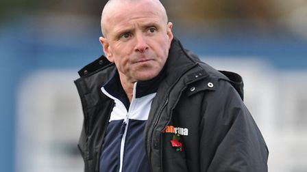 Mick Chapman Joint Manager of Lowestoft Town during the Conference North match at Nethermoor Park, G