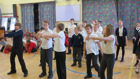 Pupils from three primary schools showed off their operatic skills when they rehearsed an opera they