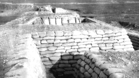 Model battlefield: over a million sandbags were used to help replicate a Western Front trench system