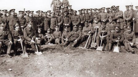 Battlefield builders: part of the army of pioneers who spent six weeks creating the tank testing ran