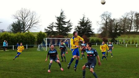 Action from Norwich United's FA Vase fourth round defeat at Ampthill Town last season.