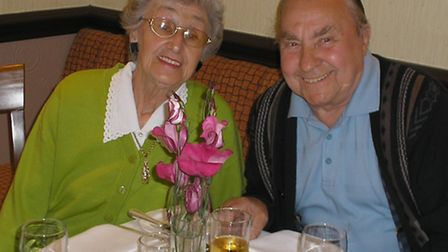 Harry Sims with wife Betty
