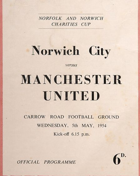 The Canaries programme was produced for the Norfolk and Norwich Charities Cup match between Norwich