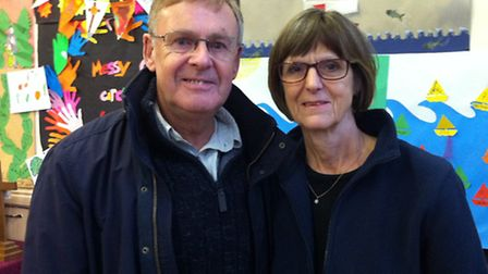 Couple Malcolm English and Jan Hawkins who signed up to be a extra in a new Agatha Christie programm