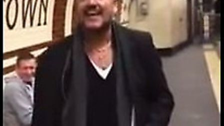 A still of the video of Neil Francis singing on the Underground. Picture: YouTube