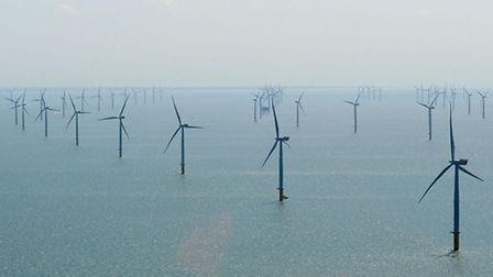 Offshore wind farm. Photo credit should read: Anna Gowthorpe/PA Wire