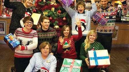 Cromer Pier staff in their festive outfits ahead of the fund-raising show. Picture: SUBMITTED