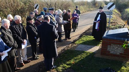 The unveiling of the new war memorial at Little Dunham. Picture: Ian Burt