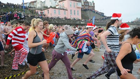 Cromer boxing day dip 2014. Picture: ANTONY KELLY