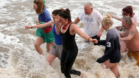 Overstrand Boxing Day Dip. Picture: Martin Dennis