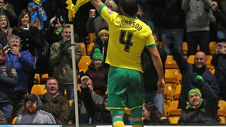 Bradley Johnson has struck six goals this season for Norwich City after his brace in the 6-1 win ove