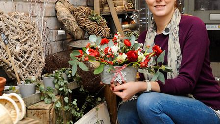 Feature on shopping local for the Broadland News Winter issue 2014. The Little Flower Shop, St Willi