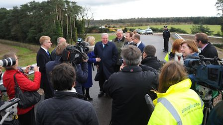 The new dualled A11 opens.Patrick McLoughlin open the A11