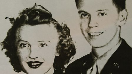 1st Lt William Rueckert and his wife Dee. Picture: SUBMITTED