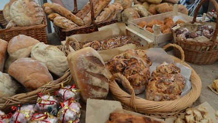 The food market at Woodforde's Brewery Open Weekend.