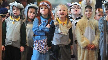 Youngsters from Oulton Broad Primary school take part in a special Nativity and Christmas Carol serv