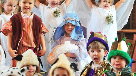 Youngsters from Earsham Primary school reception class take part in the School Nativity.