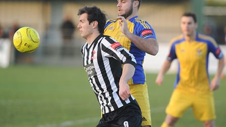 Ryan Crisp, front, is ineligible to face Needham this afternoon. Picture: IAN BURT