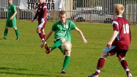 Action from Gorleston's 3-3 draw at Thetford earlier this season. Picture: DAVID HARDY