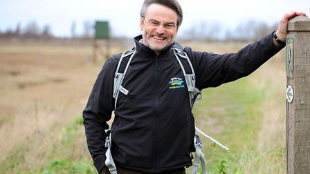 Tim Lidstone-Scott who has launched a Norfolk walking company.Pictured on the Wherrymans Way.Picture
