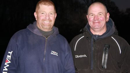 The winners of the gold and silver pairs match at Barford at the weekend, Marti Jermy and Dave Jarvi