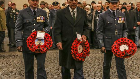 Personnel and dignitaries took part in a wreath laying.