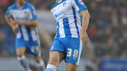 David Fox in action for Colchester United.