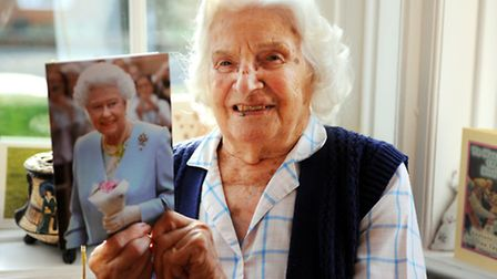 Mary Price who is celebrating her 100th birthday.Picture: James Bass