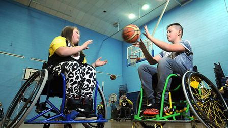 Norwich Lowriders basketball team. Ruby Bishop, 10, and her brother Jack, 12.Picture: ANTONY KELLY
