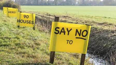 An action group has been set up in Mattishall against a 90-home development in the village. Picture: