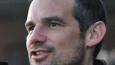 Norwich Utd V Wivenhoe Town. Manager Damien Hilton.Picture by SIMON FINLAY.