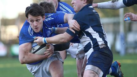 Diss, blue, were victorious on Saturday. Picture: JOHN BULLOCH