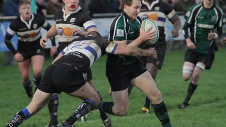 Pieter Claussen in full flight for North Walsham during last week's impressive win over Chingford. P
