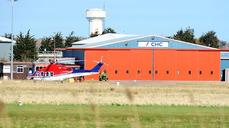 CHC Helicopter formerly CHC Scotia Limited.The Caister Road heliport terminal in the North Denes are