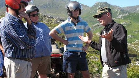 Agri-Tour South Africa 2014. Pictured: Hearing about watershed management in Elgin Valley from Brian
