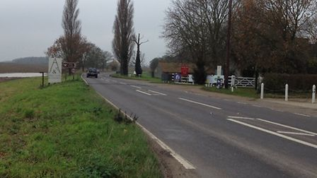 The scene of the fatal accident on the A140. Picture: ALEX HURRELL